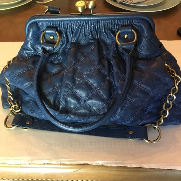 4002ec9e21 KATE LANDRY GENUINE LEATHER QUILTED FRAME PURSE